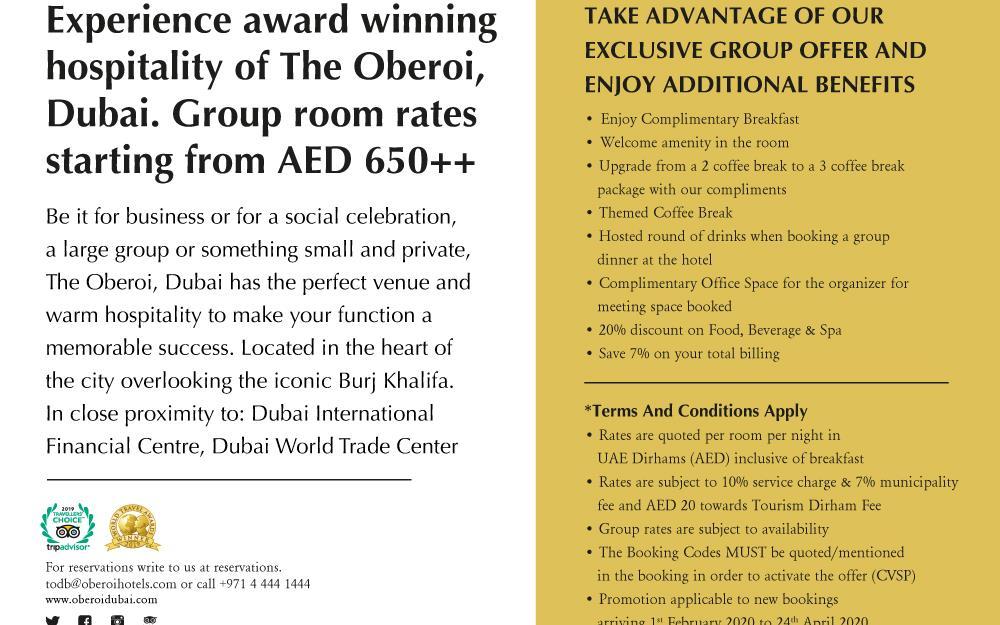 Meetings And Events At The Oberoi Dubai Dubai Ae