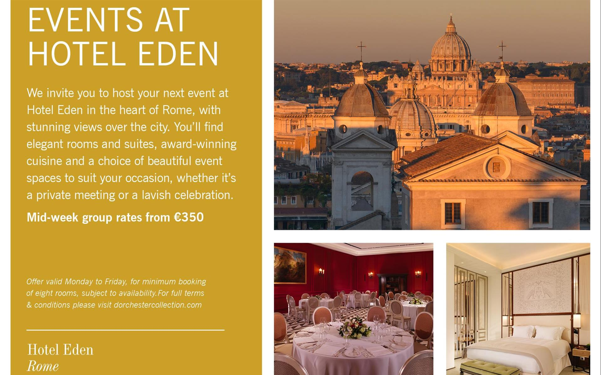 Meetings And Events At Hotel Eden Dorchester Collection
