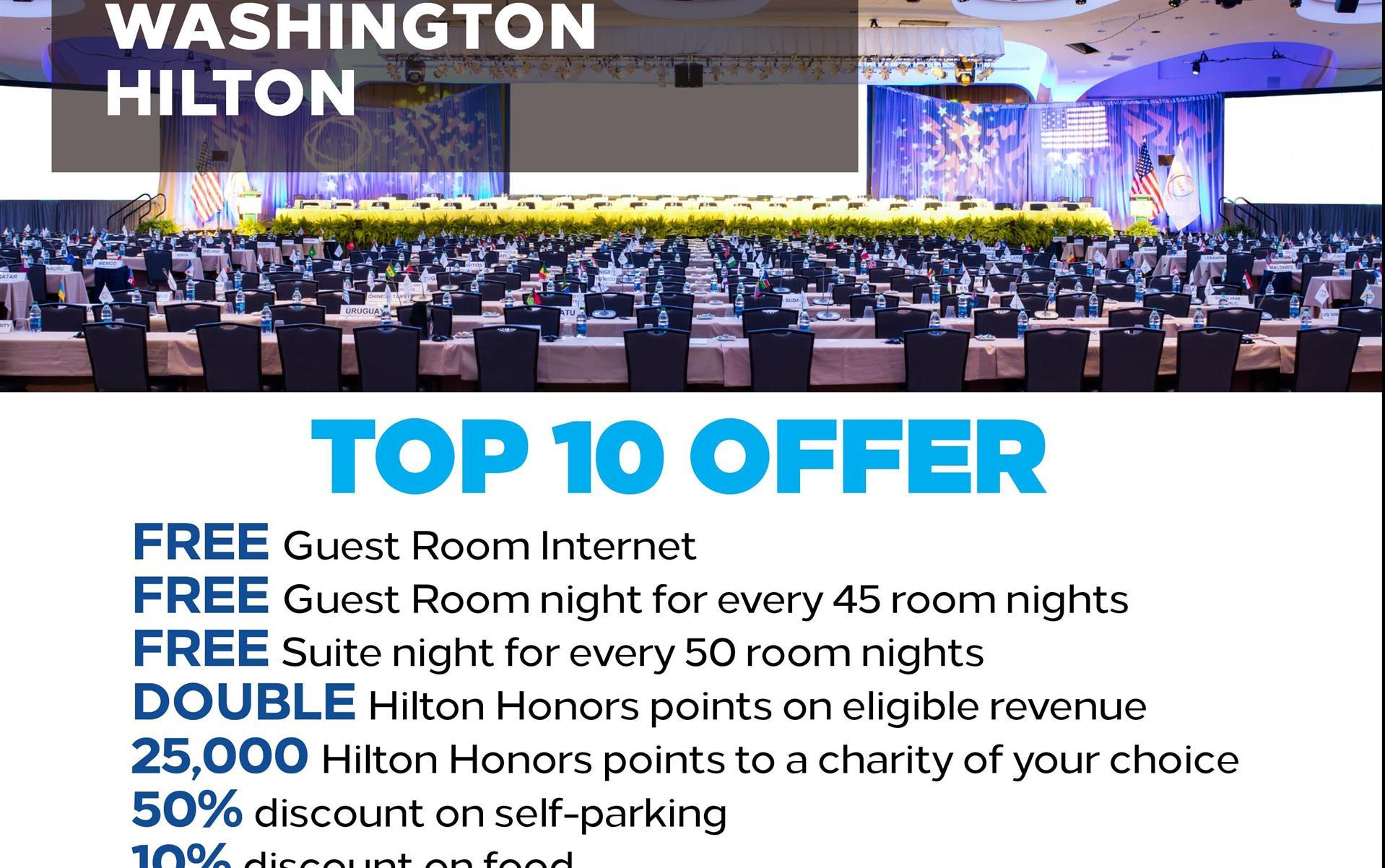 Meetings and events at Washington Hilton, Washington, DC, US