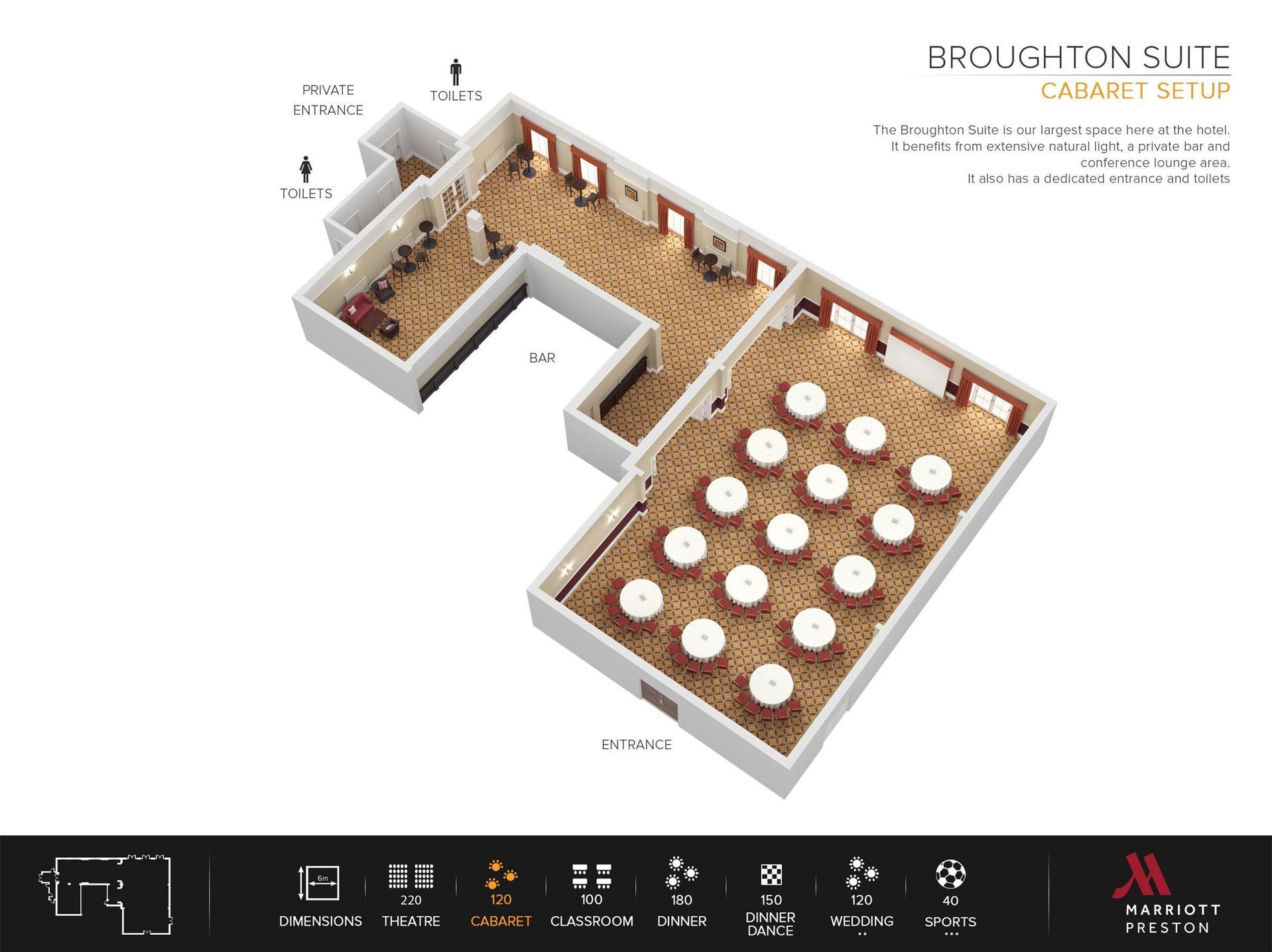 Meetings and events at Preston Marriott Hotel, Preston, GB1