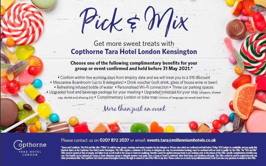 Meetings and events at Copthorne Tara Hotel London