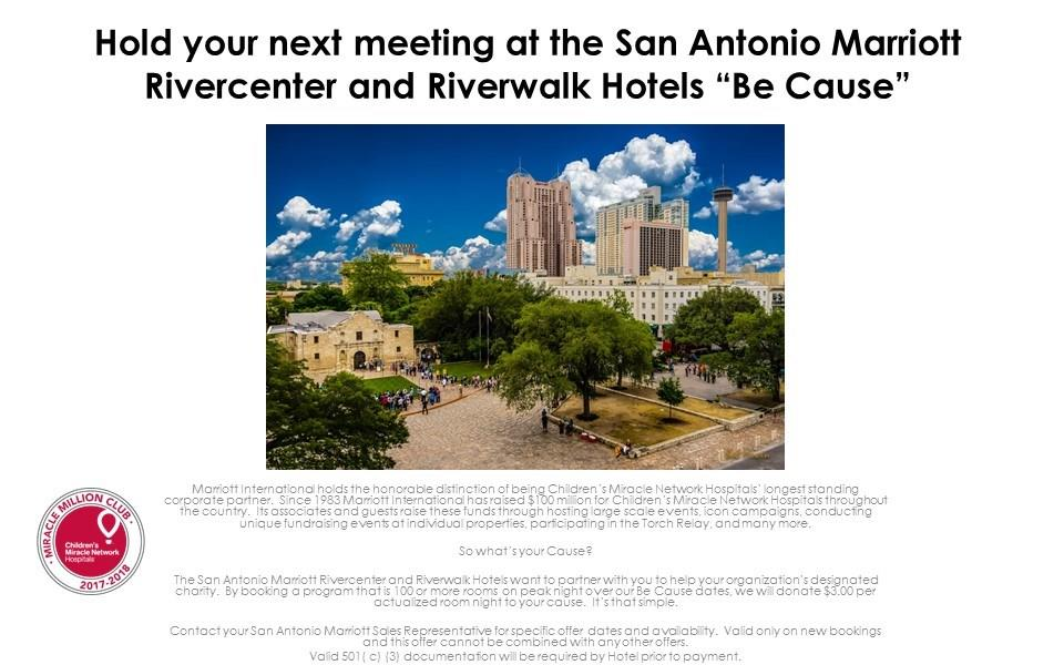 Meetings and events at San Antonio Marriott Rivercenter, San