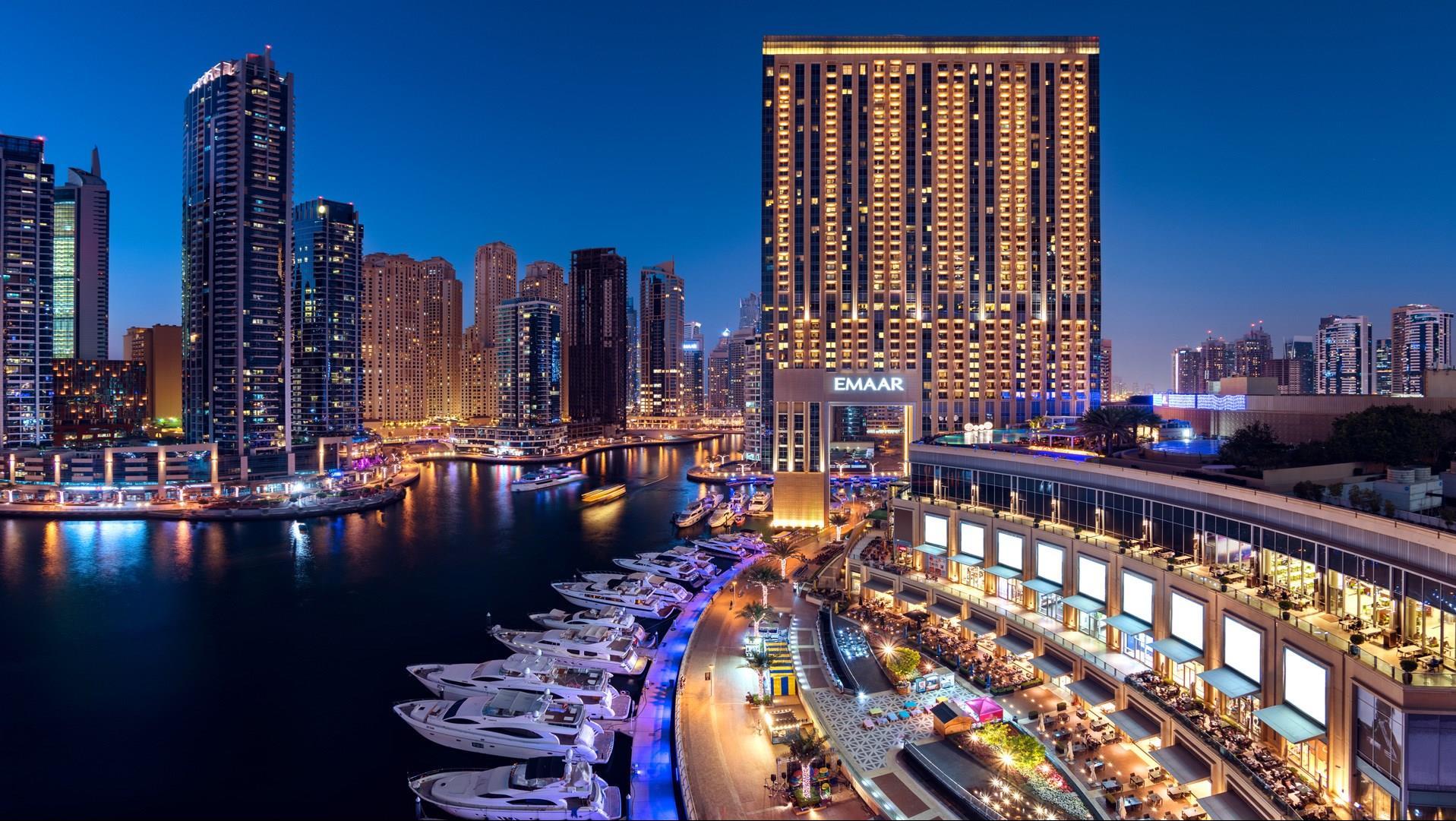 Address, Dubai Marina at Night | Dubai Marina | The Vacation Builder